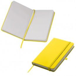 Carnetel A6 160 pagini veline coperti PU - 198408, Yellow