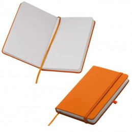 Carnetel A6  160 pagini veline coperti PU - 198410, Orange