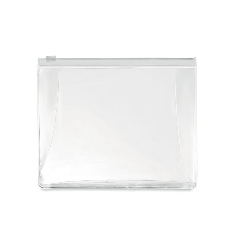 COSMOBAG - Husă cu fermoar pt. Cosmetice  MO9627-26, Transparent white