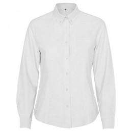 Camasa dama oxford 70% cotton / 30% polyester, 140 g/m² 5068 alb