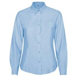 Camasa dama oxford 70% cotton / 30% polyester, 140 g/m² 5068 CIEL