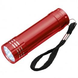 Lanterna metalica 9 LED-uri  - 190405, Red