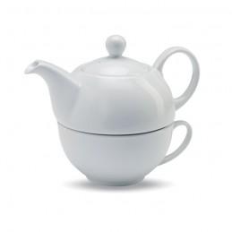 TEA TIME - Set ceainic și ceașcă de ceai  MO7343-06, White