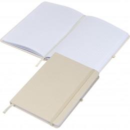 Caiet notițe A5 cu copertă din pânză pagini matematica - 2135913, Beige