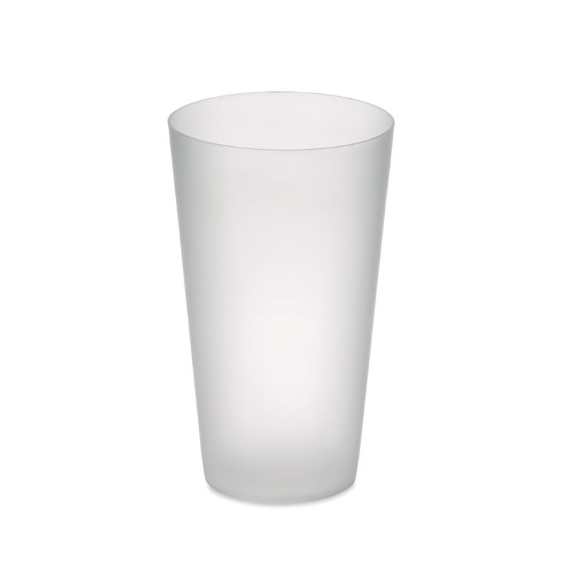 FESTA CUP - Frosted PP cup 550 ml          MO9907-26, Transparent white