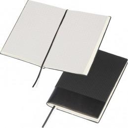 Carnetel A6 cu 160 pagini matematica coperta PU - 143803, BLACK