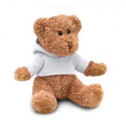 JOHNNY - Ursuleț din pluș cu tricou     MO7375-06, White