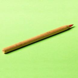 CHAVEZ bamboo ballpen, red - R73438.08, natur
