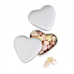 LOVEMINT - Cutie formă inimă cu bomoboane MO7234-06, White