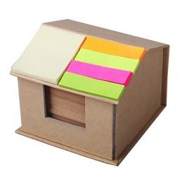 ROOFY Suport notite in forma de casa - R73740, CREM