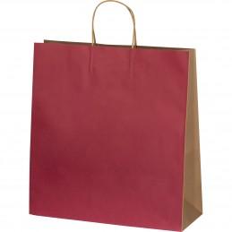 Sacoșă mare din hârtie - 6181702, Burgundy