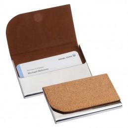 Suport cărți de vizită, cu înveliș din plută - 2226613, Beige