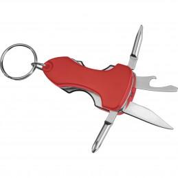 Breloc metalic cu mai multe funcții - 8181605, Red