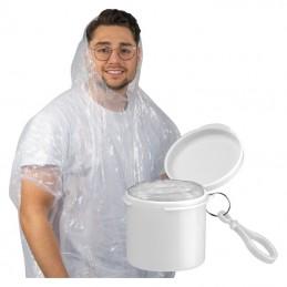 Pelerină de ploaie într-un suport cu carabină - 4232306, White