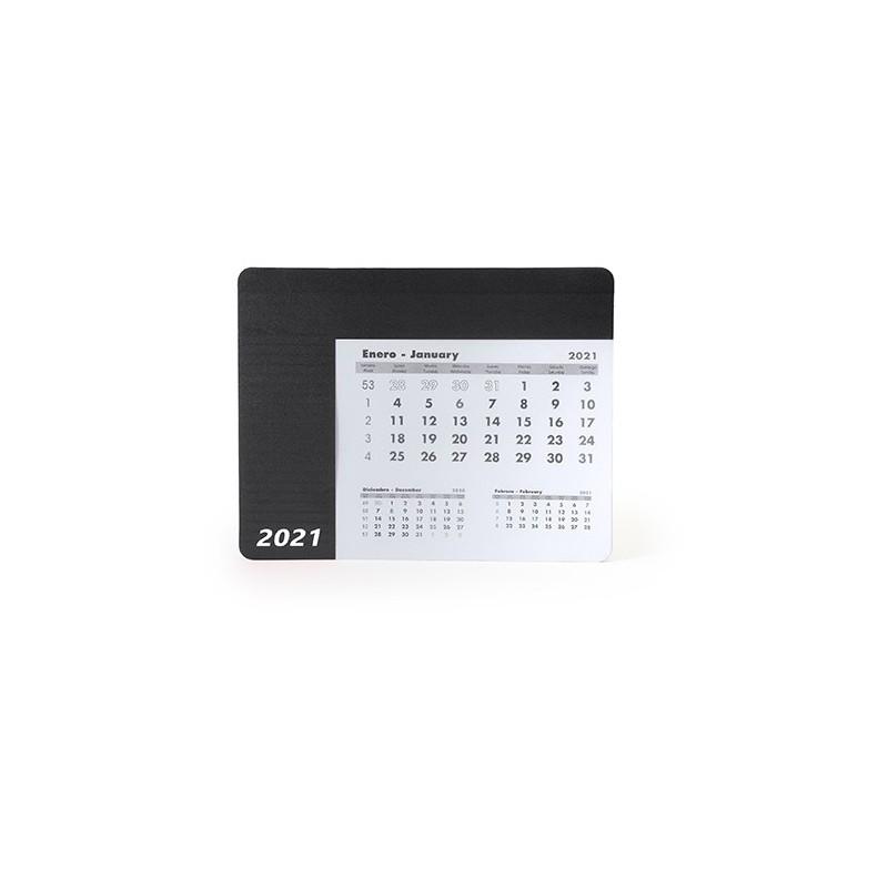 SERBAL. Mousepad dreptunghiular cu calendar., IA3017 - BLACK