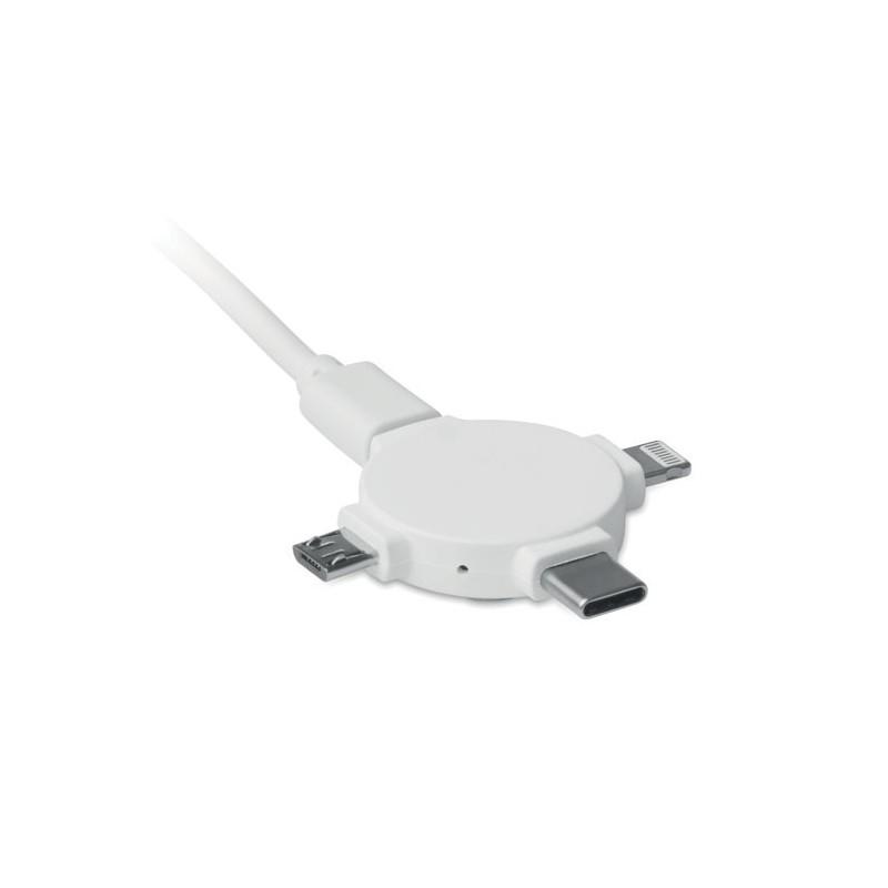 LIGO CABLE - Adaptor cablu, 3 în 1          MO9654-06, White