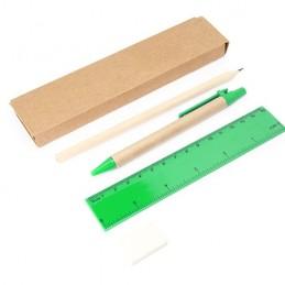 LIZANA. Set papetarie de 5 piese într-o cutie de carton kraft, HW8064 - FERN GREEN