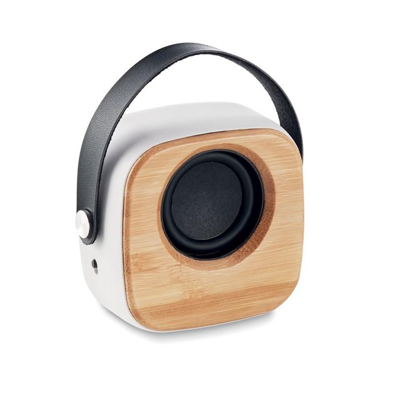 OHIO SOUND - Boxă de 3W cu față de bambus   MO9806-06, White