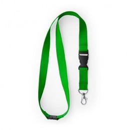 GUEST. Lanyard cu carabină, cataramă și închidere de siguranță., LY7054 - FERN GREEN