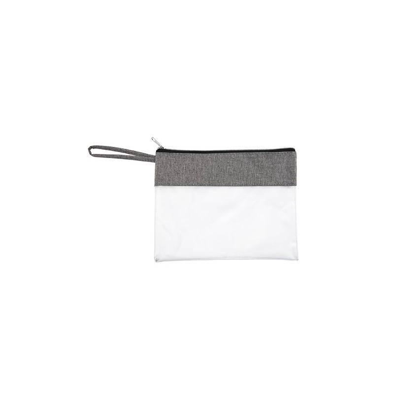 GRUS. Geantă cosmetice cu PVC transparent, BO7512 - LIGHT GREY