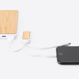 ASTRO. Cablu încărcător 3 în 1 linia Eco, IA3019 - natural