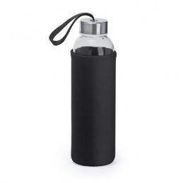 CAMU. Bidon de sticlă de 500 ml in husă neopren, MD4040 - RED