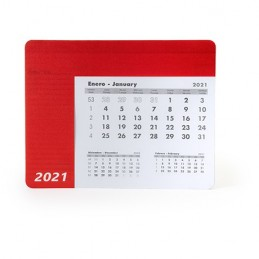 SERBAL. Mousepad dreptunghiular cu calendar., IA3017 - RED