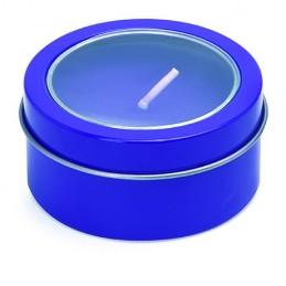 FLAKE. Lumanare in cutie cu capac transparent, XM1306 - ROYAL BLUE
