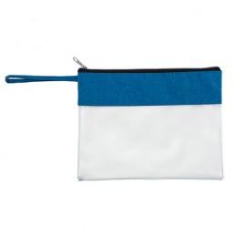 GRUS. Geantă cosmetice cu PVC transparent, BO7512 - ROYAL BLUE