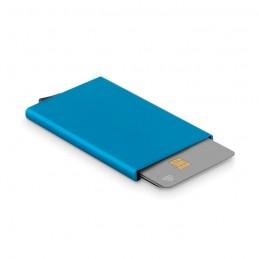 SECURPUSH - Suport card din aluminiu       MO9611-04, Blue
