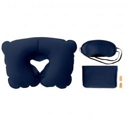 TRAVELPLUS - Set pernă, ochelari de noapte  MO7263-04, Blue