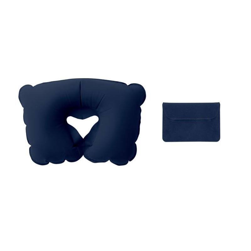 TRAVELCONFORT - Pernă gonflabilă în husă       MO7265-04, Blue