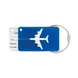 FLY TAG - Etichetă  bagaje din aluminiu  MO9508-37, Royal blue