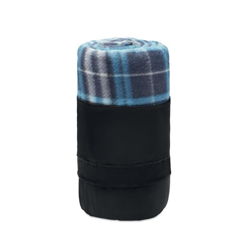 DINARA RPET - Pătură de călătorie, lână RPET MO9936-04, Blue