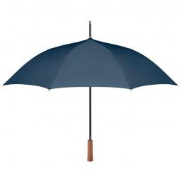 GALWAY - Umbrelă cu mâner din lemn      MO9601-04, Blue