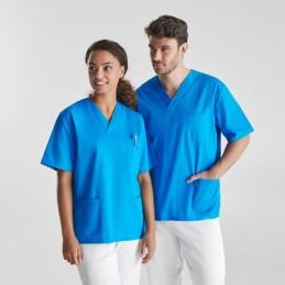 PANACEA Bluza medicala unisex spital, clinica, cabinete medicale 9098 Albastru