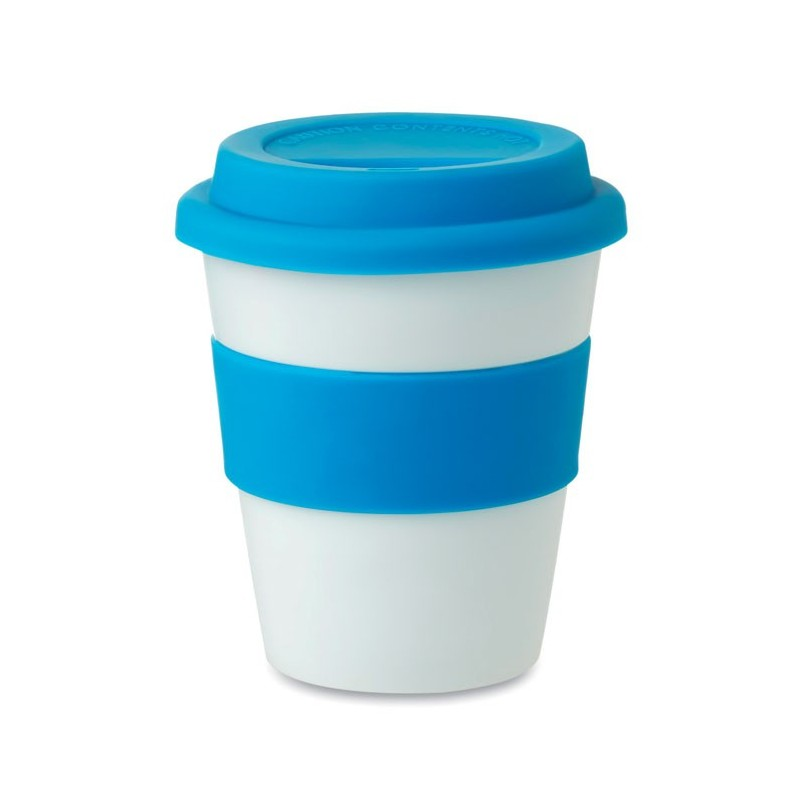 ASTORIA - Pahar din PP cu capac silicon  MO8078-04, Blue