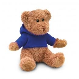 JOHNNY - Ursuleț din pluș cu tricou     MO7375-04, Blue