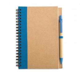 SONORA PLUS - Bloc notes reciclat și pix     IT3775-04, Blue