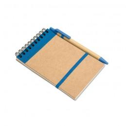SONORA - Bloc notes reciclat și pix     IT3789-04, Blue