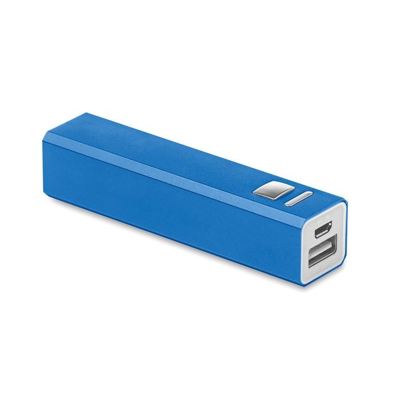 POWERALU - Încărcător din aluminiu        MO8602-37, Royal blue