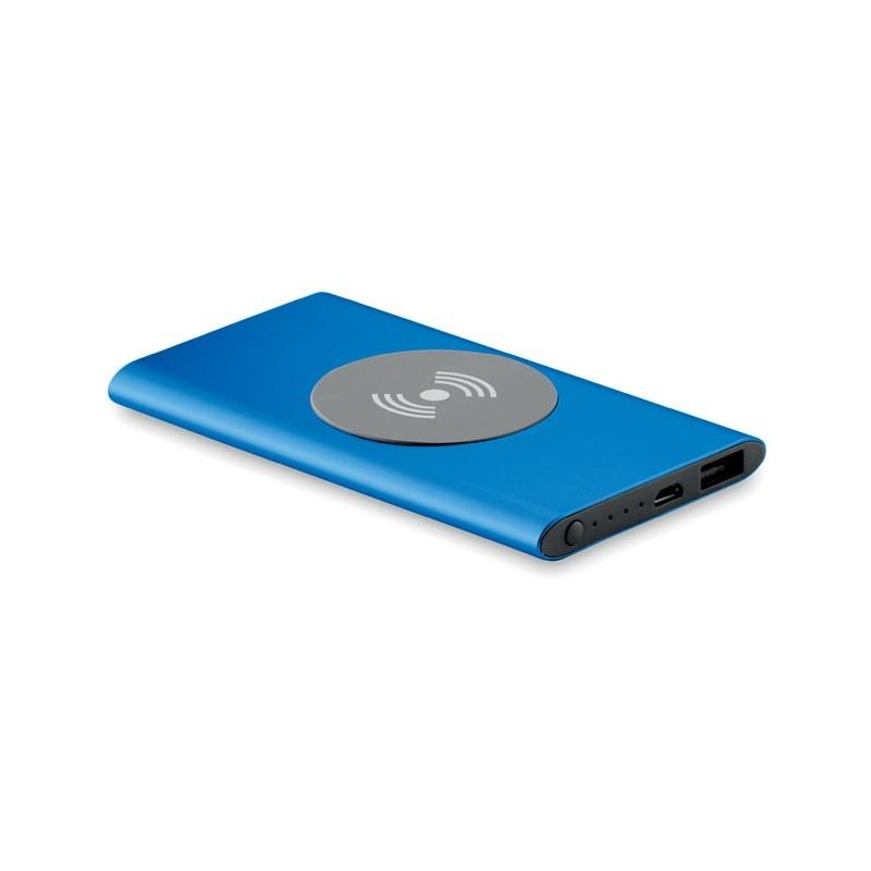 POWER&WIRELESS -  Powerbank Wireless de 4000mAh MO9498-37, Royal blue