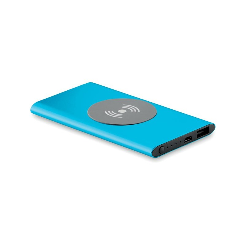POWER&WIRELESS -  Powerbank Wireless de 4000mAh MO9498-04, Blue