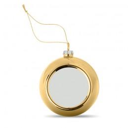 HAPPY BALL - Glob de Crăciun pt. Sublimare  CX1466-98, Gold