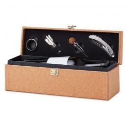 OTAGO - Set vin cu 4 buc, cutie plută  MO9717-13, Beige