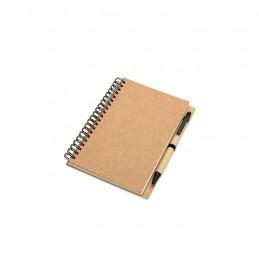 BLOQUERO - Bloc notes reciclabil şi pix   KC7012-13, Beige