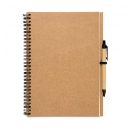 BLOQUERO PLUS - Bloc notes reciclat și pix     IT3789-13, Beige