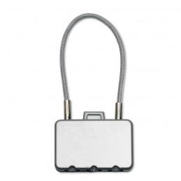 THREECODE - Lacăt pentru valiză            MO8354-16, Dull silver