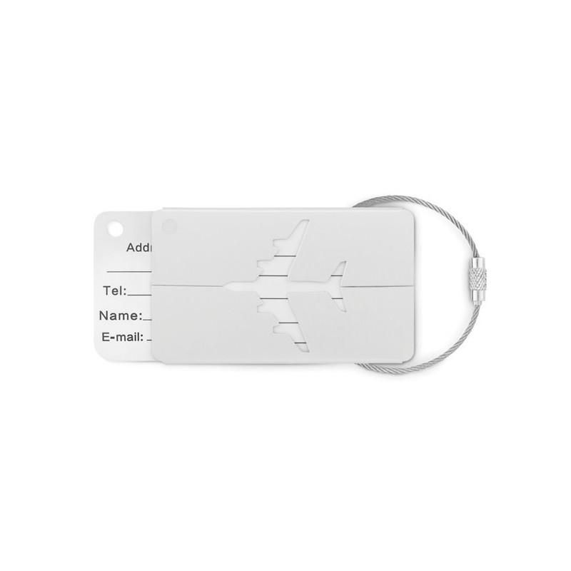 FLY TAG - Etichetă  bagaje din aluminiu  MO9508-16, Dull silver