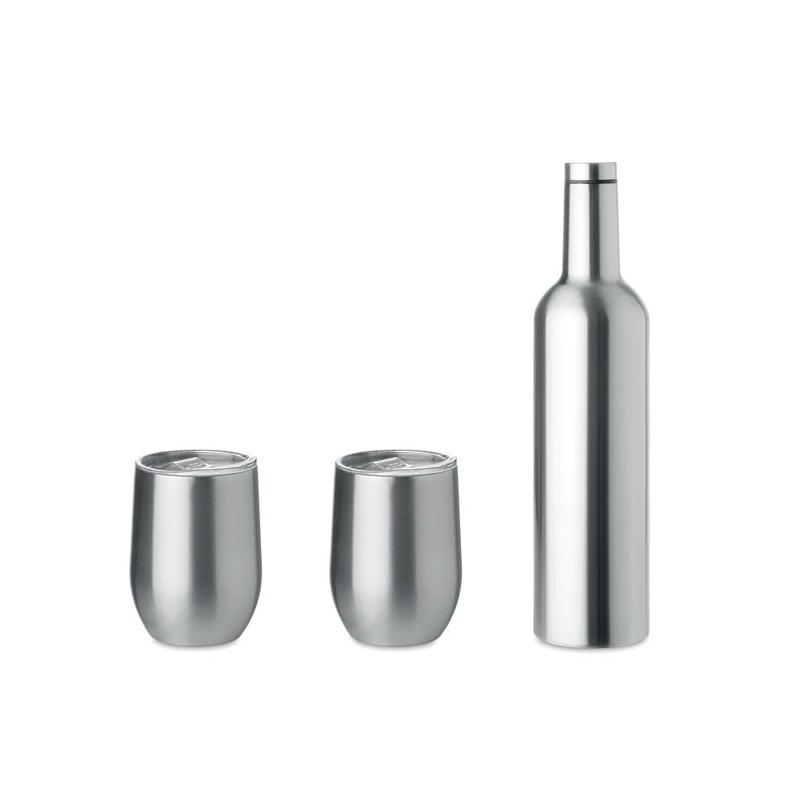 CHIN SET - Set de sticle și căni          MO9971-16, Dull silver